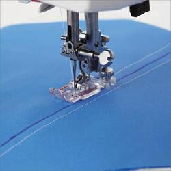 Pied transparent 1/4 de pouce pour plaque aiguille pour points droits (OM)